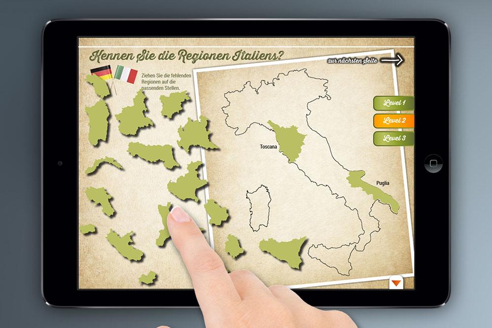 gamification Italien Regionenspiel