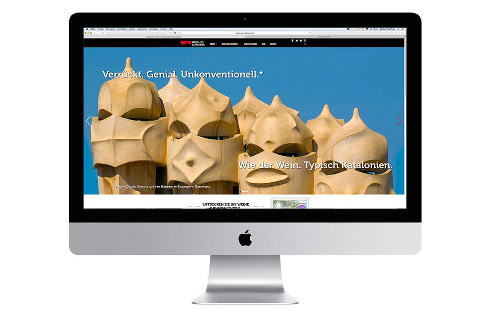 webdesign für weine-aus-katalonien